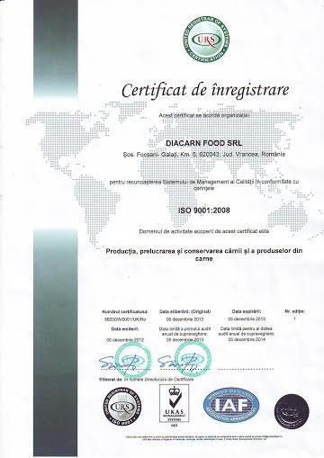 Management Integrat - al Calităţii în conformitate cu standardul SR EN ISO 9001:2008